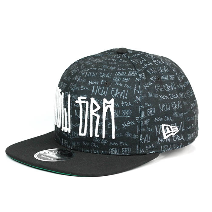 Boné New Era 9Fifty aba reta pixo preto