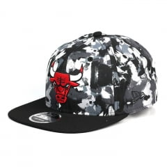 Boné Chicago Bulls New Era 9Fifty aba reta preto