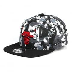 Boné Chicago Bulls New Era 9Fifty aba reta preto