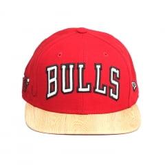 Boné Chicago Bulls New Era 9Fifty aba reta vermelho