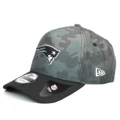 Boné New England Patriots New Era 9Forty aba Curva cinza