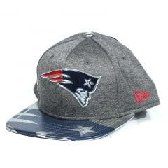 Boné New England Patriots New Era Snapback Cinza Claro