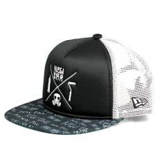 Boné New Era 9fifty aba reta trucker preto