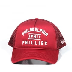 Boné Philadelphia Phillies New Era A-Frame Snapback Vermelho