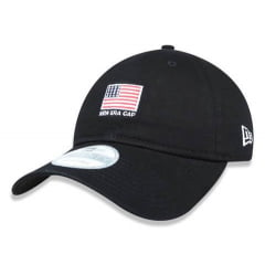 BONÉ NEW ERA 9TWENTY STRAPBACK FLAG U.S.A PRETO