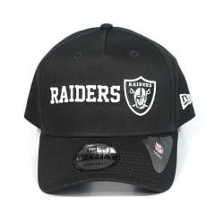 Bone Oakland Raiders New Era 9forty snapback preto