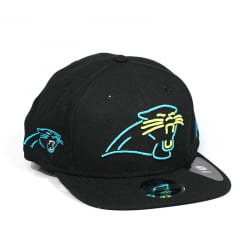 Bone Carolina Panthers New Era 9fifty preto