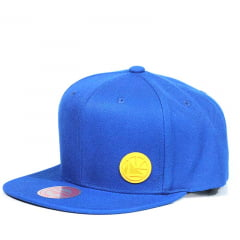 Bone Golden State Warriors Mitchell and Ness snapback azul