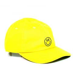 Boné Poms Smile strapback amarelo