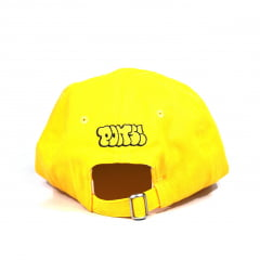 Boné Poms spray strapback amarelo