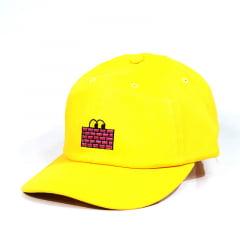 Boné walls poms strapback amarelo