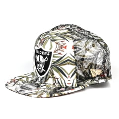 Bone Oakland Raiders 9Fifty New Era trucker foliage