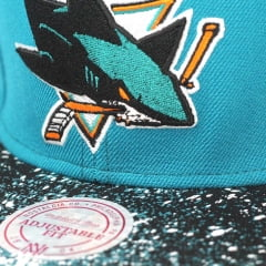 Bone San Jose Sharks Mitchell and Ness splatter 2 tone